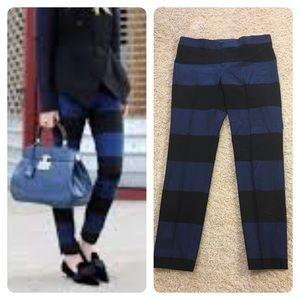 NWT! B/R Sloan-Fit Rugby Stripe Slim Ankle Pant